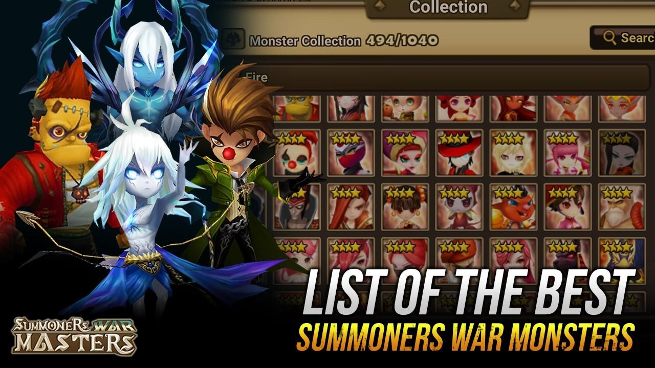 MAX AMOUNT OF 5 Star Monster SUMMONERS WAR